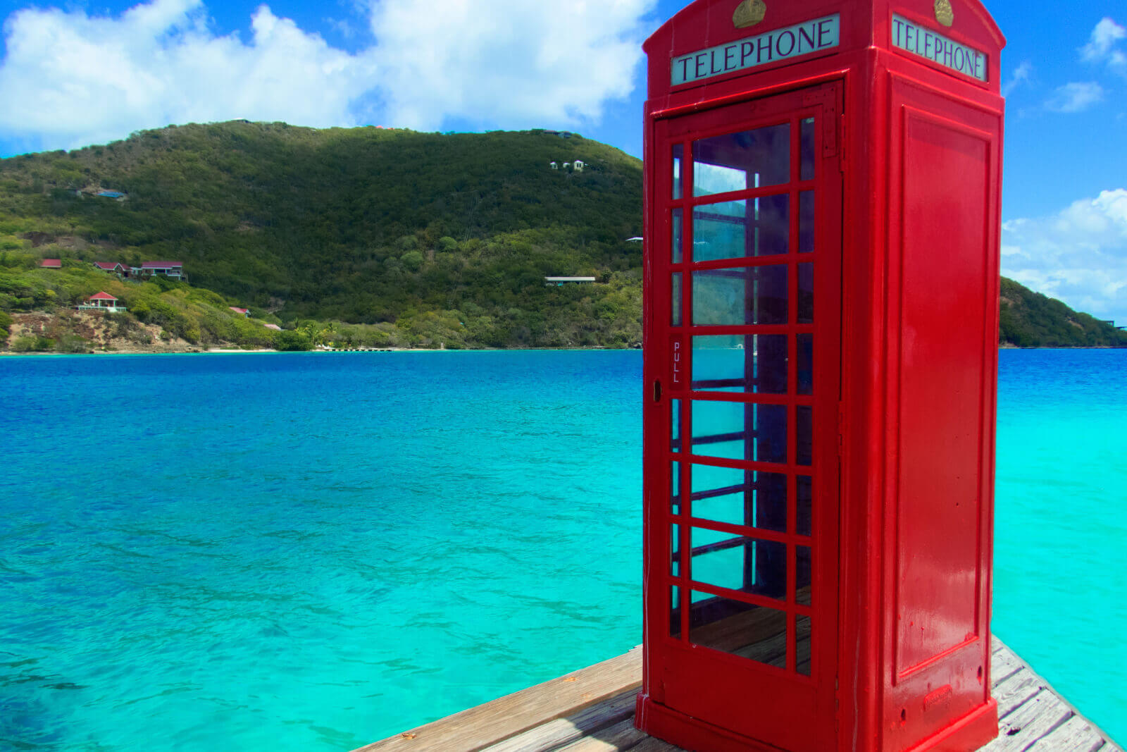 Marina Cay Phone Booth