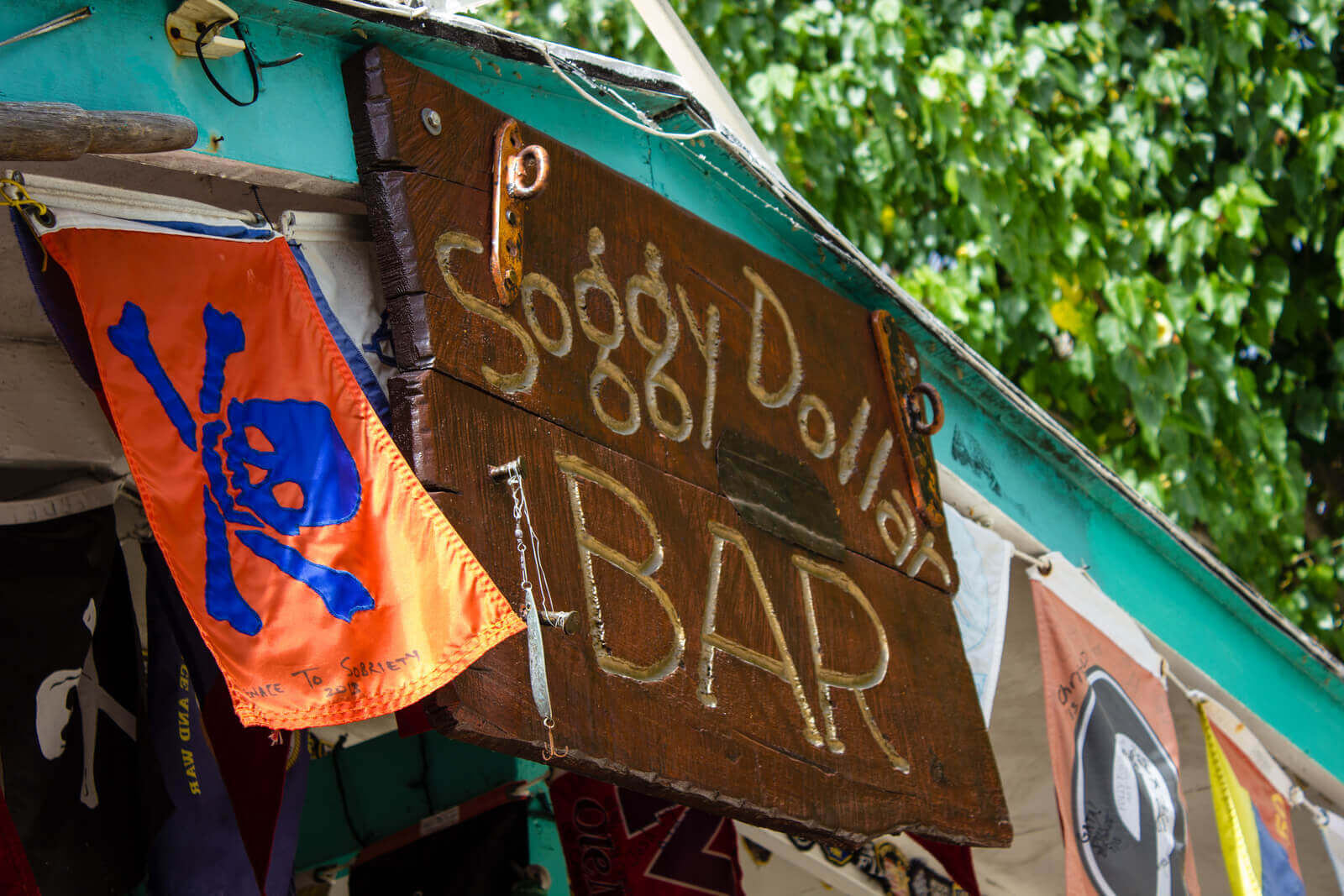 Soggy Dollar bar Sign